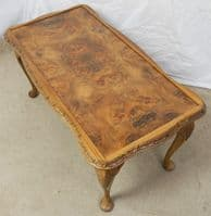 SOLD - Walnut Shaped Top Long Coffee Table